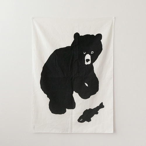 Black BearFabric Poster