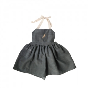 Apron Dorothy Charcoal Grey*