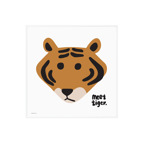 POSTER MEET TIGER WHITE 2size