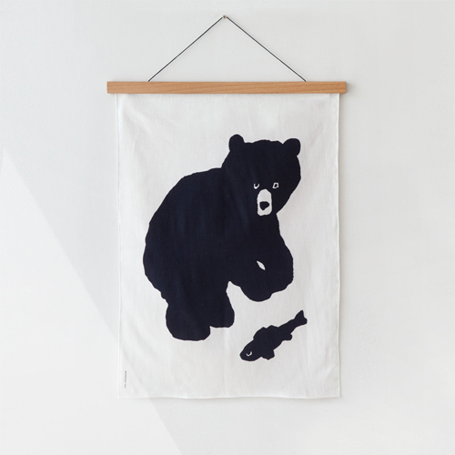 Black BearFabric Poster-Small