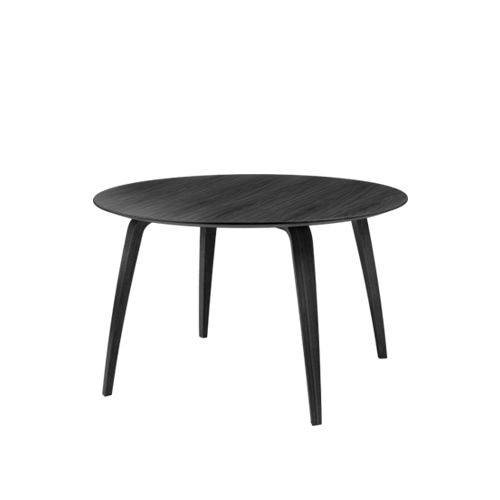 구비 다이닝 테이블Dining Table Round∅120 Black Stained Ash Semi Matt Lacquered