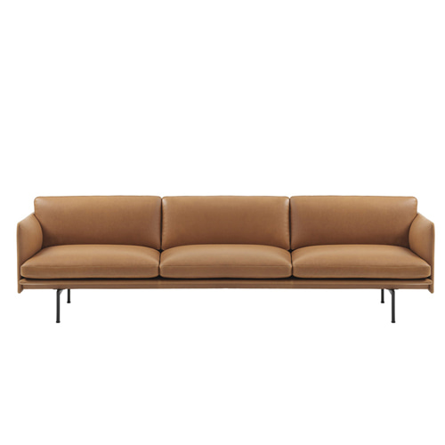 무토 아웃라인 소파 Outline Sofa 3½Seater Refine Leather Cognac