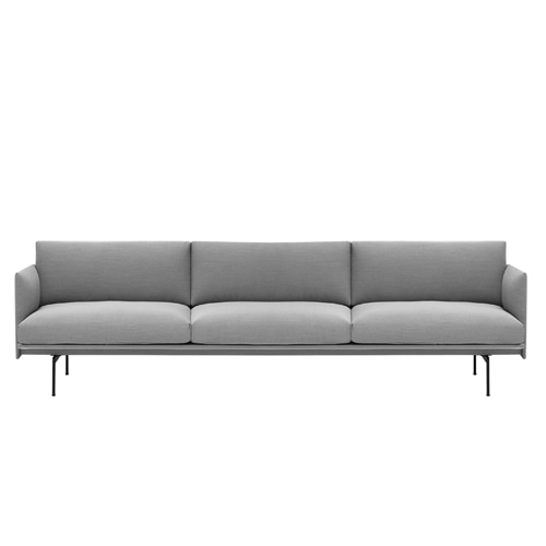 무토 아웃라인 소파 Outline Sofa 3½Seater Steelcut Trio 133
