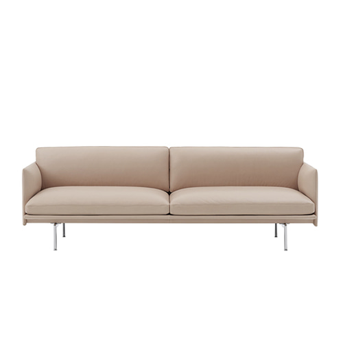 무토 아웃라인 소파 Outline Sofa 3Seater Aluminum Base Beige