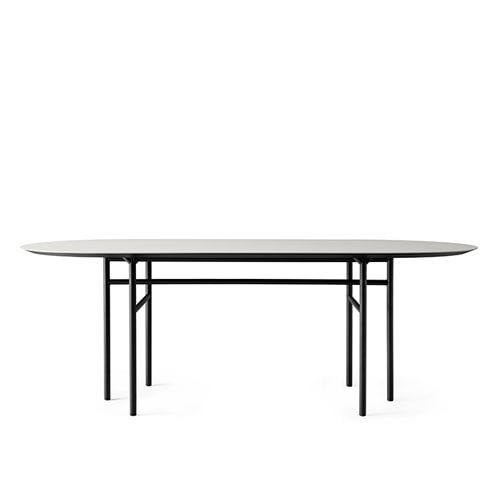메누 스네어가드 다이닝 테이블 Snaregade Dining Table Oval Black Steel / Black Oak