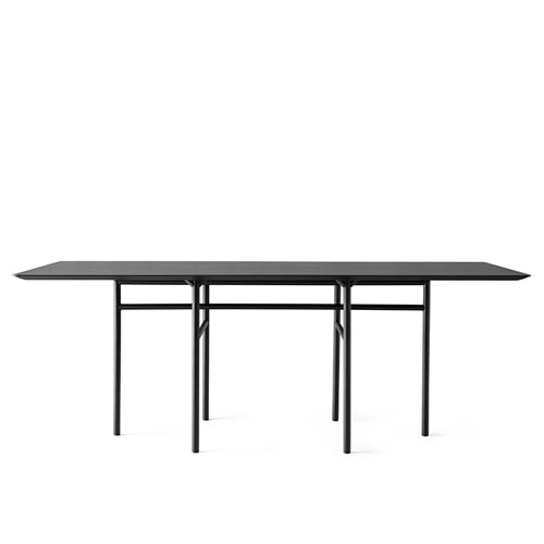 메누 스네어가드 다이닝 테이블 Snaregade Dining Table Rectangular Black Steel / Black Oak