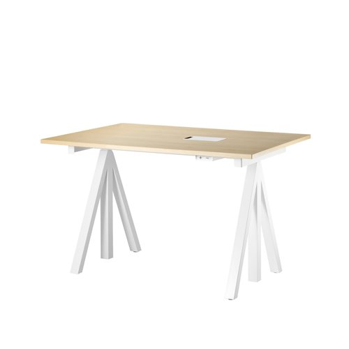 스트링 시스템 웍스 테이블 String System Height adjustable work desks Ash Top + White Frame