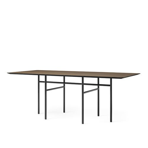 메누 스네어가드 다이닝 테이블 Snaregade Dining Table Rectangular Black Steel / Dark Stained Oak