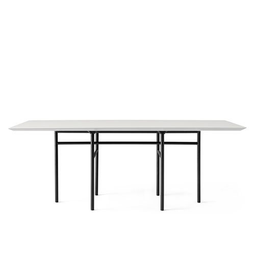 메누 스네어가드 다이닝 테이블 Snaregade Dining Table Rectangular Black Steel / Mushroom Linoleum