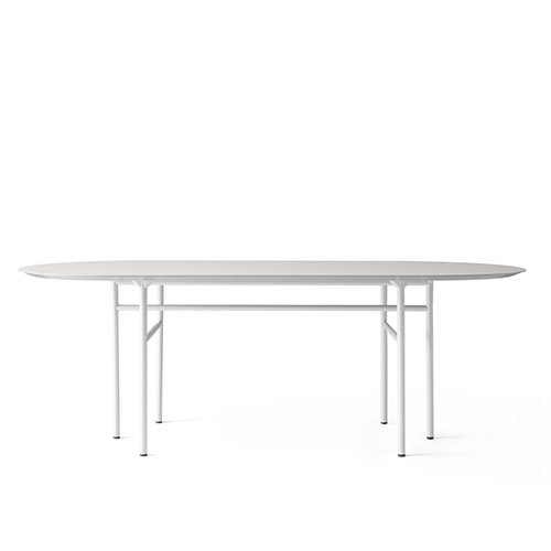 메누 스네어가드 다이닝 테이블 Snaregade Dining Table Oval Light Grey Steel / Mushroom Linoleum