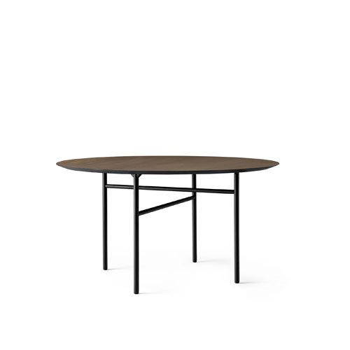 메누 스네어가드 다이닝 테이블 Snaregade Dining Table ∅120 Black Steel / Dark Stained Oak