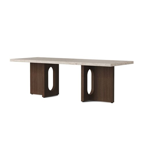 메누 엔드로진 라운지 테이블 Androgyne Lounge Table Dark Stained Oak / Kunis Breccia Stone