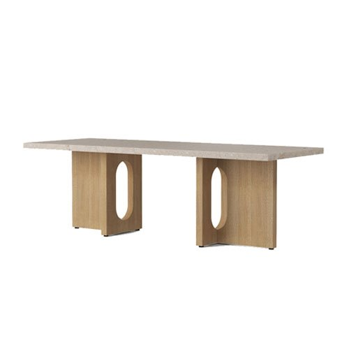 메누 엔드로진 라운지 테이블 Androgyne Lounge Table Natural Oak / Kunis Breccia Stone