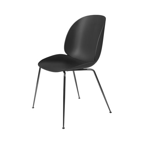 구비 비틀 다이닝 체어 Beetle Dining Chair Black Chrome Frame / Black