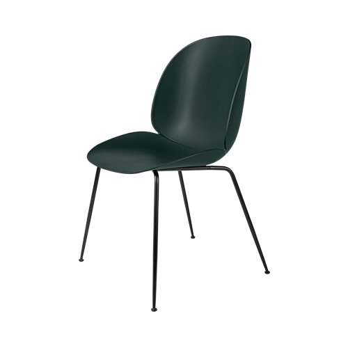구비 비틀 다이닝 체어 Beetle Dining Chair Black Chrome Frame / Dark Green