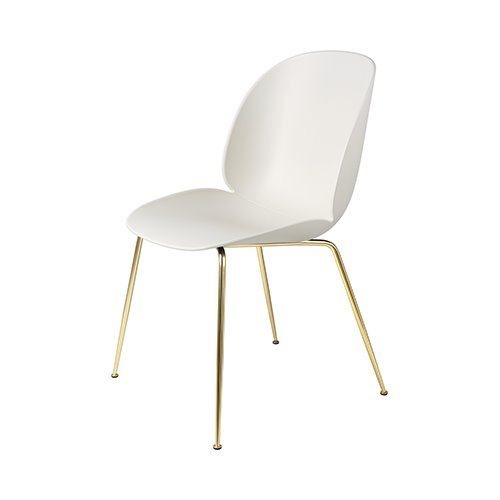 구비 비틀 다이닝 체어Beetle Dining Chair Brass Frame / Alabaster White