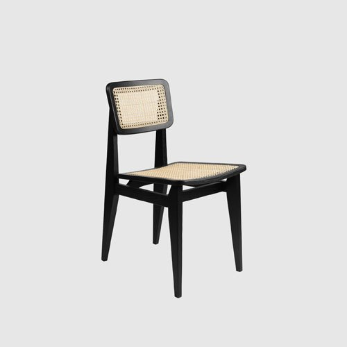 구비 C 체어 C-Chair French CaneBlack Stained Oak