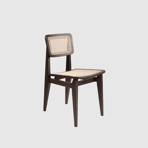 구비 C 체어 C-Chair French CaneAmerican Walnut